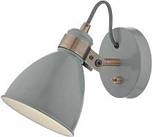Single spot Frederick gray and satin copper 1 bulb