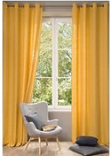 Single Washed Yellow Linen Curtain 130x300
