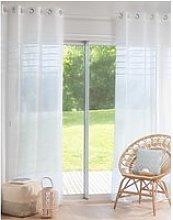 Single White Eyelet Curtain 140x250