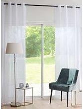 Single White Eyelet Curtain 140x270