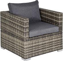 Single Wicker Furniture Sofa Chair w/ Padded
