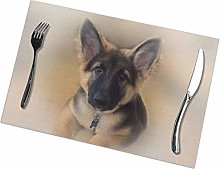 Singledog German Shepherd Placemat Set of 6,Heat