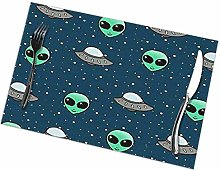 Singledog Placemat Alien and UFO Head Placemats