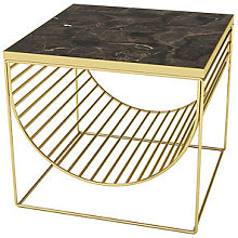 Sino End table - / Magazine rack - Marble by AYTM