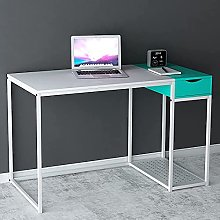 SINPAID Computer Desk with Drawer 47 Inches Black