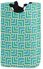 SIONOLY Laundry Bag Turquoise Art Deco Square