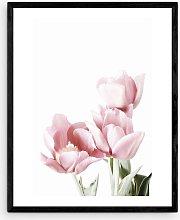 Sis and Seb - 'Tulips' Wood Framed Print,