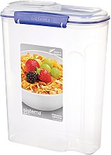 Sistema Cereal Storage Container with Clip, Blue,