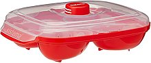 Sistema Microwave Poacher for up to 4 Eggs,