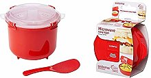 Sistema Microwave Rice Cooker, 2.6 L - Red/Clear &
