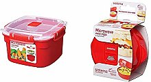 Sistema Microwave Small Steamer with Removable