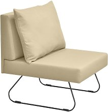 Sit Lounge Chair Happy Barok Upholstery: Cream
