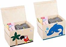 SITAKE 2Pcs Foldable Animal Storage Toy