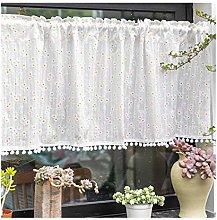 Siunwdiy Curtain kitchen, slice curtain Christmas