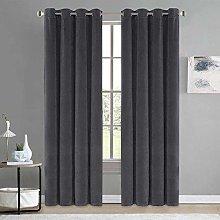 Siunwdiy Curtain Velvet velvet, curtain black