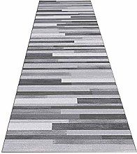 Siunwdiy Gray striped washable carpet for living