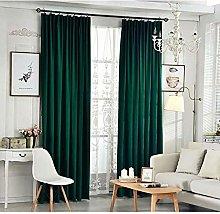 Siunwdiy Heavy green velvet curtain blackout