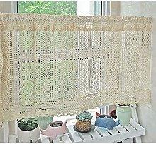 Siunwdiy Retro decoration short window curtain