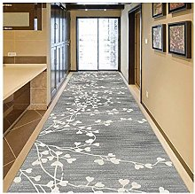 Siunwdiy Runner Hallway Non-Slip Carpet, Gray