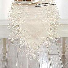 SIWANG Table Runner,Modern Elegant Korean Lace