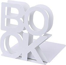 siwetg Alphabet Shaped Metal Bookends Iron Support