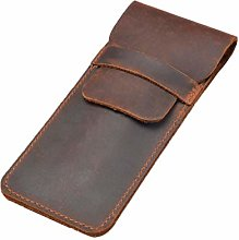 siwetg Leather Pen Holder Brown Fountain Pen Bag