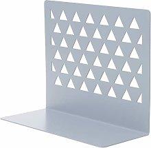 siwetg Metal Hollow Desktop Organiser Bookends
