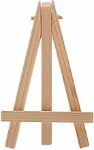 Siwetg Natural Wood Mini Easel Frame Tripod