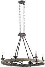 Six-bulb chandelier Taulbee in an oval shape