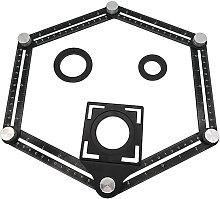 Six Irregular Fold Ruler Tile Hole Locator