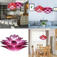Six-layer purple red plastic lampshade suitable