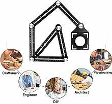 Six-Sided Aluminum Alloy Angle Measuring Tool