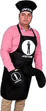 SiXsigma Sports Set of 3 Funny Chefs Aprons Hat