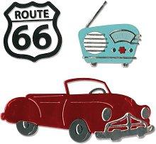 Sizzix Thinlits Die Set Vintage Car and Radio,