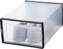 SJHFG Shoes Storage Box Clear Stackable Plastic