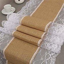 SJHQ Table Runner Natural Burlap Jute Linen Table