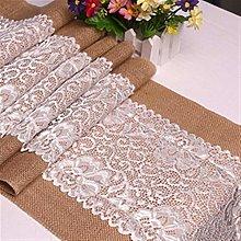 SJHQ Table Runner Vintage Burlap Jute Lace Linen