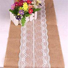 SJHQ Table Runner Vintage Linen Wedding Table