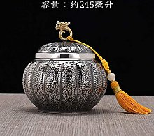 SJJZRR Tea Canister Sterling Silver 999 Sealed