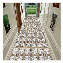 SJSF L 3D Runner Rug for Hallway, Floral Pattern