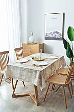 SJXCDZ Brown marble tablecloth fashion for kitchen