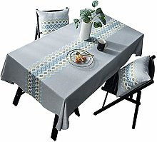 SJXCDZ Grey tablecloth with embroidery table cover
