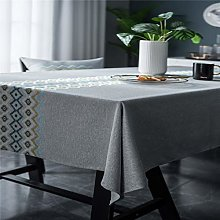 SJXCDZ Grey tablecloth with embroidery tabletop