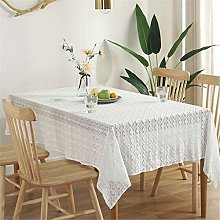 SJXCDZ Kitchen Table Cover, White lace tablecloth