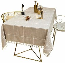 SJXCDZ Machine Washable Table Cloth, Pure brown
