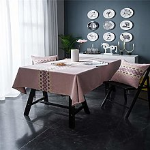 SJXCDZ Rectangle Table Cover, Pink tablecloth with