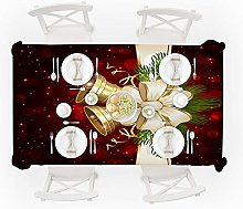 SJXCDZ Tabletop Cover Cloth, Red Christmas gold