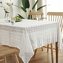 SJXCDZ Tabletop Cover Cloth, White lace tablecloth