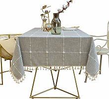 SJXCDZ Washable Table Cover Cloth, Pure grey large