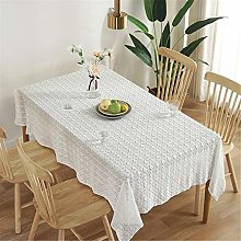 SJXCDZ White lace tablecloth with four-leaf clover
